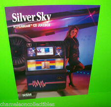 SILVER SKY By NSM 1990 ORIGINAL JUKEBOX MUSIC PHONOGRAPH PROMO SALES FLYER