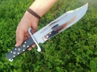 Blacksmith New Custom Hand made Spring Steel Hunting Bowie Knife, Micarta Handle