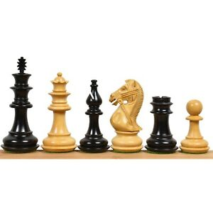 """4.2"""" Supreme Luxury Series Staunton Chess Pieces Only set - Weighted Boxwood"""