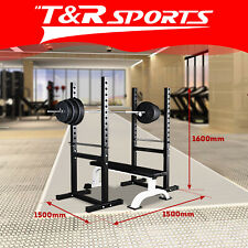 JMQ Fitness RBT303 Squat Rack Bench Press Weight Adjustable Lifting Home Gym