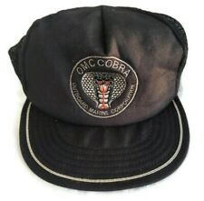 Vintage OMC Cobra Outboard Marine Corporation Made in USA Black Hat Trucker Cap