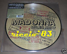 "Madonna Miles Away 12"" PICTURE DISC MIX LP VINILE NUOVO"