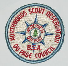 Northwoods Scout Res (IL) Wilderness Outpost Pocket Patch  BSA