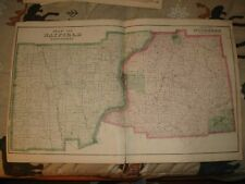ANTIQUE HAYFIELD WOODCOCK GREENWOOD TOWNSHIP PENNSYLVANIA MAP BLOOMING VALLEY NR