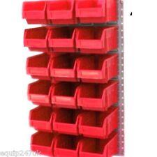 18 RED PARTS BINS BIN  WALL KIT & STEEL LOUVRE PANEL