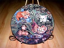 """Garden Reflections"" FRISKY FELINES, JURGEN SCHOLZ Cats Bradford Exchange Plate"