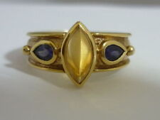 Citrine Yellow Gold Amethyst Fine Rings