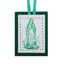 Green Wool Scapular - Devotion to The Immaculate Heart of Mary - NEW