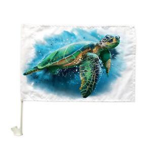 "Deep sea turtle Car flag Car Window Car Culture Auto Flag 12"" X 18"""