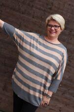 Damen Pullover Strick grau bronze weiche Viskose l Fledermausärmel Größe 50 A70