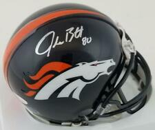 Jake Butt Signed Denver Broncos Mini Football Autographed Helmet JSA Witness COA