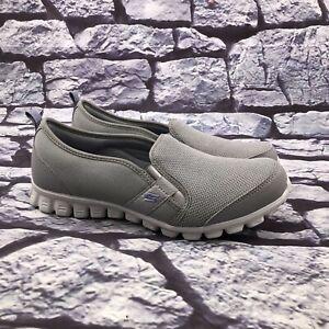 Skechers 22192S Women's Gray Slip On Memory Foam Loafer Sneakers Size 9