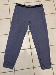 CALVIN KLEIN SLEEPWEAR NEW! Men's Navy Blue SOFT! Viscose Knit Lounge Pants XL