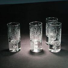 SET of 4 CRYSTAL VODKA WHISKEY SCHNAPPS SHOT GLASSES designed by Ray LAPSYS
