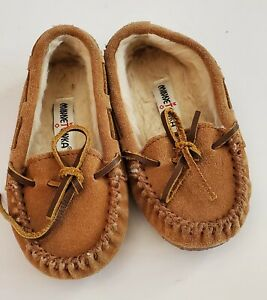Minnetonka Shoes| Kids Toddler  Britta Trapper Slippers/Brown Size 8