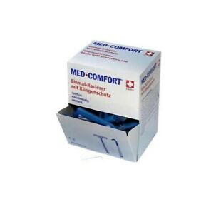 Med- Comfort Einweg-Rasierer Blau 100 Stück, Einmalrasierer, Einschneidig