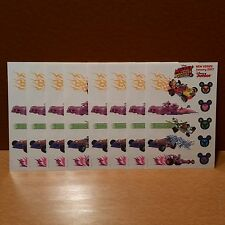 Lot of 80 Disney Mickey And The Roadster Racers Temporary Promo Tattoos 8 Sheets