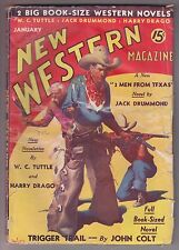 New Western Jan 1936 Pulp WC Tuttle Harry Sinclair Drago Jack Drummond John Colt