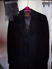 """men's sz M 44""""chest """"Rarest Prized"""" cashmere winter coat & Christian Dior scarf"""