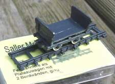 Lanz Feldbahnlore als Plateauwagen mit 2 Bordwänden   - von Saller 1:87