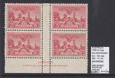 2d S.A. Cent Imprint Block Of 4 With Varieties Bw171zb Muh/Mvlh