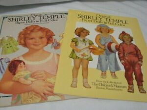 LOT 2 SHIRLEY TEMPLE PAPER DOLLS 1986 & 1988