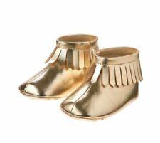 Gymboree Gold Fringed Baby Moccasins Size 3 NEW