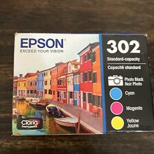 GENUINE Epson 302 Photo Black & TRI-COLORS COMBO PACK(2023-2024) FACTORY SEALED!