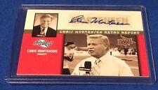 Chris Mortensen 2011 Sweet Spot Football Autograph Retro Report - Only 5 Exist??