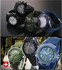 Fabric/Canvas Band Matte Military Wristwatches
