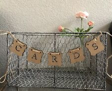 ~ WOOD ~Cards Banner/ Wedding Card Box Gift & 36'' long Sign.