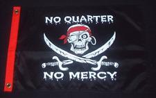 """No Quarter No Mercy Boat Flag 12X18"""" Pirate New"""
