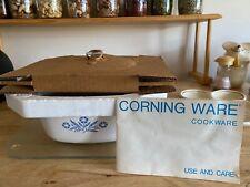 Vintage Corning Ware Blue Cornflower 1 1/2 QT Covered Saucepan Casserole Dish