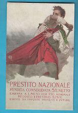 Cartolina d'epoca illustratore MARIO BORGONI PER PRESTITO NAZIONALE 5% Nuova