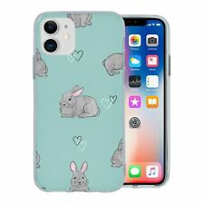 For Apple iPhone 11 Silicone Case Bunny Rabbit Pattern - S8812
