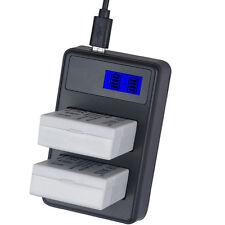 Dual Charger + 2PCS Battery For Canon LP-E8 LPE8 EOS 700D 650D 600D 550D