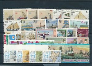[G41979] Worldwide Boats Good lot Very Fine MNH stamps