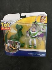 Toy Story Double Pack - BUZZ LIGHTYEAR   REX Figures Moveable