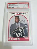 David Robinson 1989 Hoops #138 Rookie Card.  Graded PSA 6.  San Antonio Spurs.