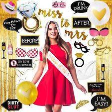 Bachelorette Party Supplies Decorations Kit, Bride Sash & Veil, Room Decorations