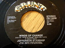 "JEFFERSON STARSHIP - WINDS OF CHANGE  7"" VINYL"