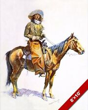ARIZONA COWBOY ON HORSE US WESTERN REMINGTON OIL PAINTING ART PRINT ON CANVAS