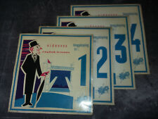 4 Vinyles 33 tours - videovox - english lessons - longplaying 331/3 - TECNIC