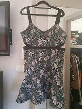 Forever Celeste Floral Cut out Dress Size 14