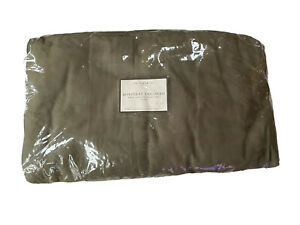 Pottery Barn Boxpleat Loose Fit Twill Slipcover Sofa Couch Olive New khaki