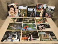 Vintage 60's Japanese Traditional Dressed Girls & Maiko Girls 12 Postcards