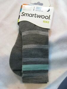 Smartwool Womens Hike Medium Weight Merino Wool Crew Socks, Blue Heather, Medium