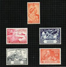 Northern Rhodesia 1949 UPU set of 4 sg50/3 & Silver Wedding.