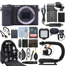 Sony Alpha a6600 Mirrorless 24.2MP 4K Digital Camera Body + 64GB Pro Video Kit