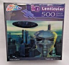 NUOVO e SIGILLATO ~ LENTICOLARE 3D Puzzle ~ invasione aliena 500 PEZZI